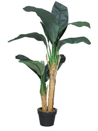 Kunstplant Banana tree in pot 120cm
