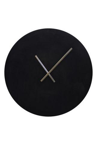 Klok antiek zwart Ø74 cm